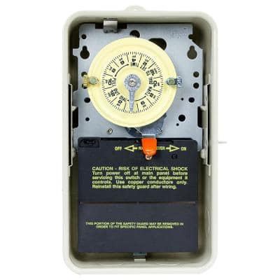 T104R3 40 Amp 24-Hour Mechanical Time Switch with Outdoor Steel Enclosure - Gray