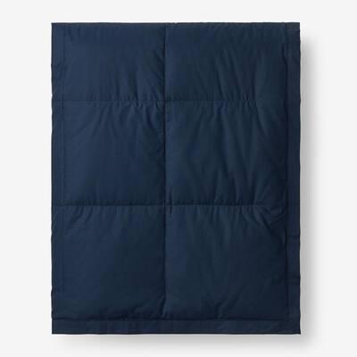 LaCrosse LoftAIRE Down Alternative Navy Blue Cotton Twin Blanket