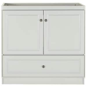 Ultraline 36 in. W x 21 in. D x 34.5 in. H Simplicity Vanity with No Side Drawers in Dewy Morning