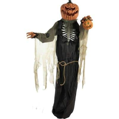 84 in. Touch Activated Animatronic Pumpkin Man