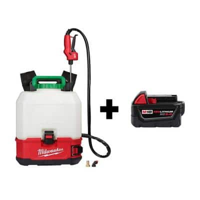M18 18-Volt 4 Gal. Lithium-Ion Cordless Switch Tank Backpack Pesticide Sprayer with M18 5.0 Ah Battery