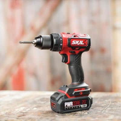 PWRCore 20-Volt Brushless Cordless 1/2 in. Drill Driver Kit Plus 2.0Ah Lithium-Ion Battery (USB) Plus PWRJump Charger