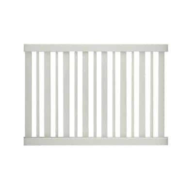 Pro-Series 4 ft. H x 6 ft. W White Vinyl Lafayette Spaced Picket Fence Panel