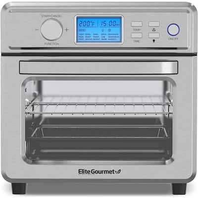Elite Gourmet 21L Digital Air Fryer Oven Stainless Steel