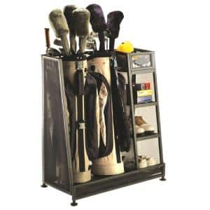 Black Steel Golf Club Organizer