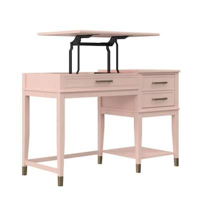 Westerleigh 45.7 in. Pink Lift-Top Computer Desk