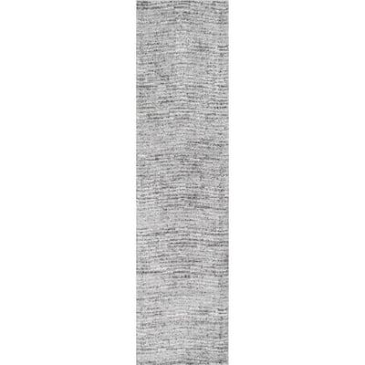 Sherill Modern Ripples Gray 3 ft. x 20 ft. Runner
