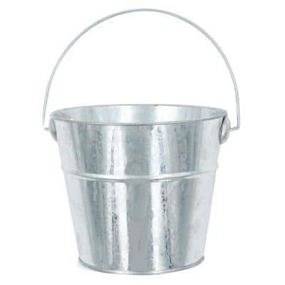 Project Craft Small Decorative Metal Bucket for Indoor and Outdoor Crafts and Décor, 4 in. H x 5 in. W