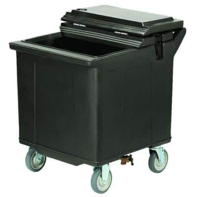 125 lb. 22.25 in. W 4 Swivel Casters Black Insulated Ice Caddy