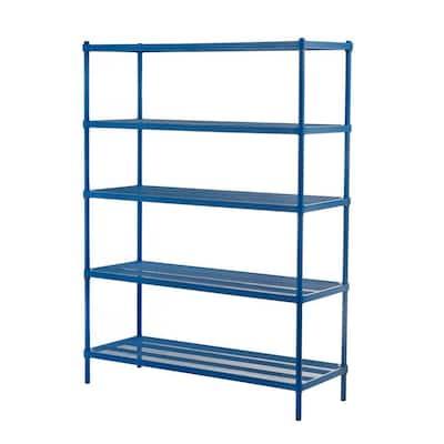 Petrol Blue 5-Tier Metal Garage Storage Shelving Unit (47 in. W x 63 in. H x 18 in. D)