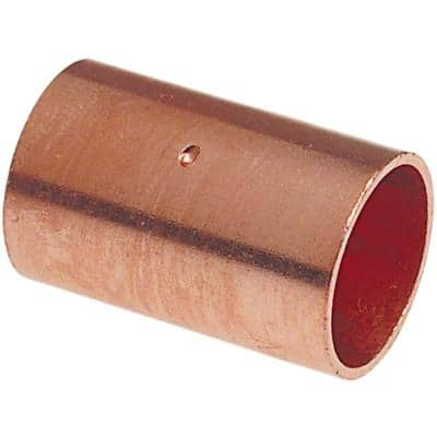 1/2 in. Copper Pressure Cup x Cup Coupling with Stop Fitting (10-Pack)