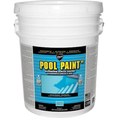 Pool Paint 5 Gal. 3151 Ocean Blue Semi-Gloss Acrylic Exterior Paint