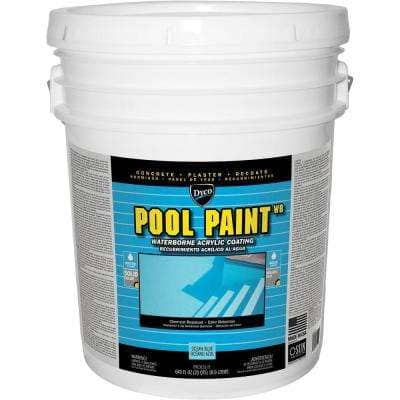 Pool Paint 5 Gal. 3151 Ocean Blue Semi-Gloss Acrylic Exterior Paint