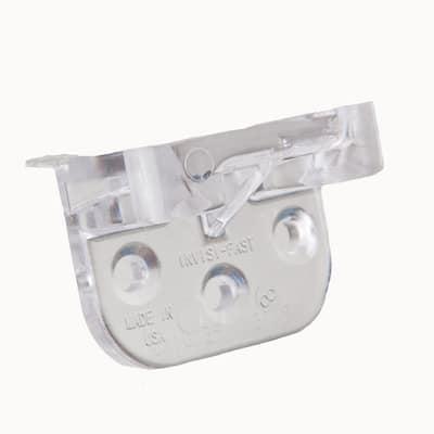 Clear No Spacer Kit (Start/Stop Clip) Original Hidden Deck Fastener with Ceramic Coated Screws (36-Piece)