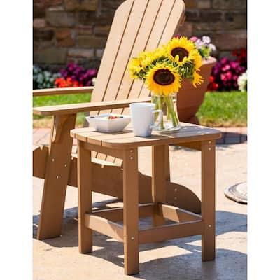 Teak Adirondack Resin Side Table