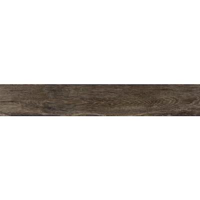 Eagle Perch Brown 7.5 in. x 47 in. Matte Porcelain Floor Tile (14.99 sq. ft. / carton)
