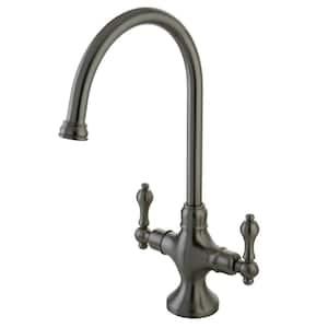 Vintage 2-Handle Standard Kitchen Faucet in Brushed Nickel