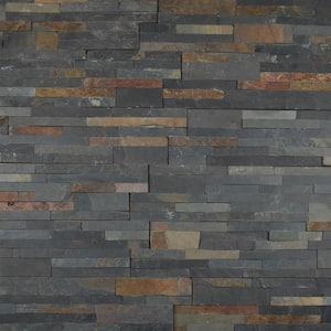 Salvador Multi Panel Ledger Panel 6 in. x 24 in. Natural Slate Wall Tile (10-Cases/60 sq. ft./Pallet)