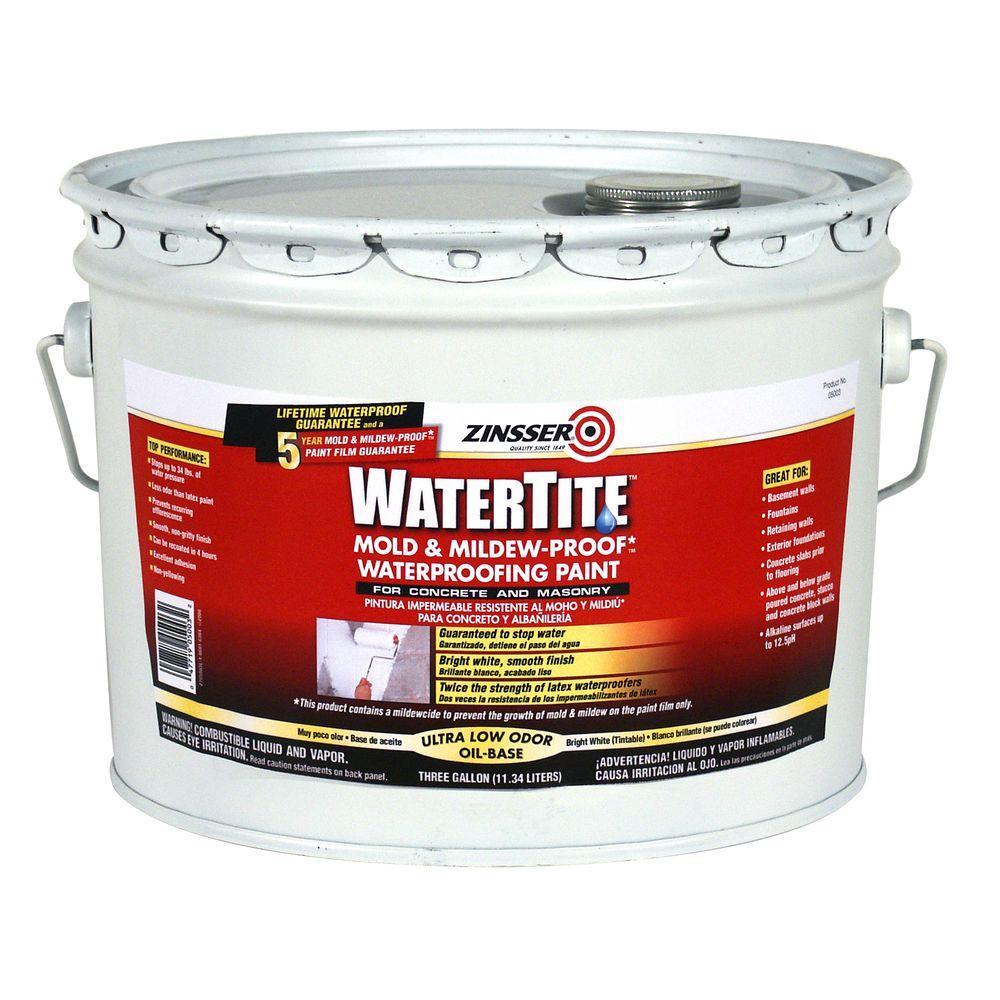 3 gal. WaterTite Mold and Mildew-Proof White Oil Based Waterproofing Paint