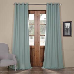 Juniper Berry Green Grommet Blackout Curtain - 50 in. W x 120 in. L