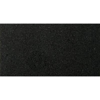 Granite Absolute Black Polished 12.01 in. x 24.02 in. Granite Floor and Wall Tile (2 sq. ft.)