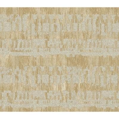 Ibiza Metallic Gold, Grey, and Off-White Faux Paper Strippable Roll (Covers 56.05 sq. ft.)