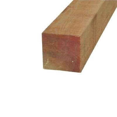4 in. x 4 in. x 8 ft. Rough Western Red Cedar Lumber