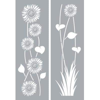 6 in. x 18 in. Sunflowers Stencil