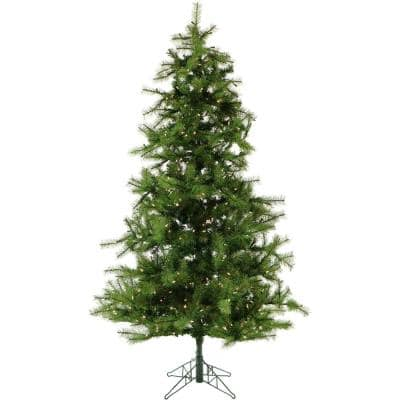 6.5 ft. Pre-lit LED Southern Peace Pine Artificial Christmas Tree with 500 Clear Lights