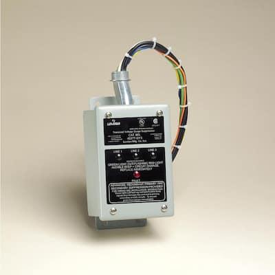 277/480-Volt and 220/380-Volt 3-Phase Wye 240-Volt 480-Volt Delt Amp Surge Panel Protector, Gray