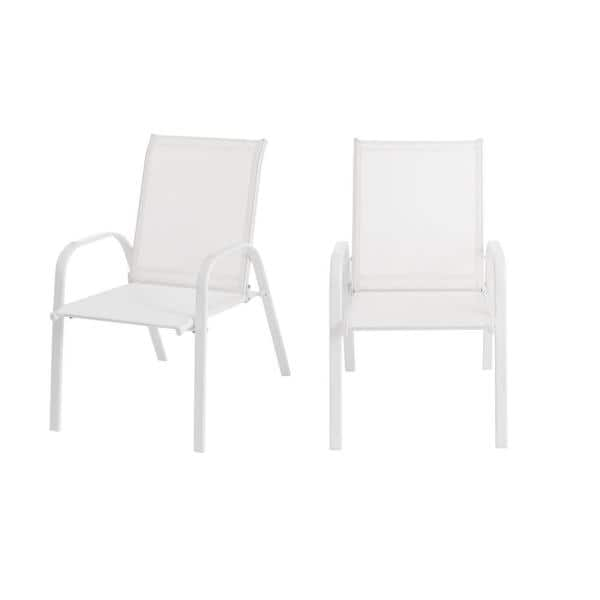 Stylewell Mix And Match White Steel, White Patio Dining Chairs