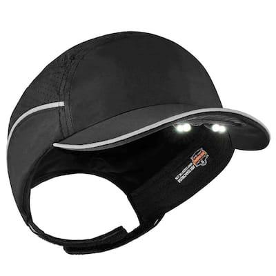 Lightweight Bump Cap Hat with LED Lighting