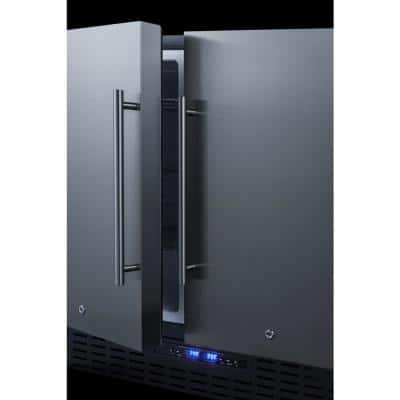 36 in. 5.8 cu. ft. Built-In Side by Side Refrigerator with Freezer in Stainless Steel, Counter Depth