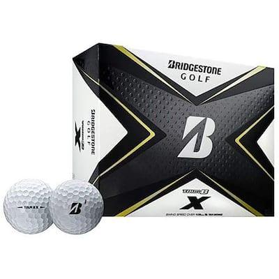 Tour B X Golf Balls with REACTIV Cover Technology, White, 1-Dozen