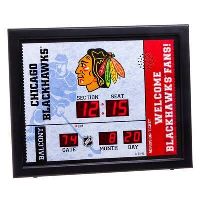 Chicago Blackhawks NHL Bluetooth Ticket Stub Wall Clock