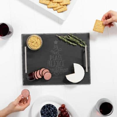 Slate Serving Board Personalized Christmas Tree