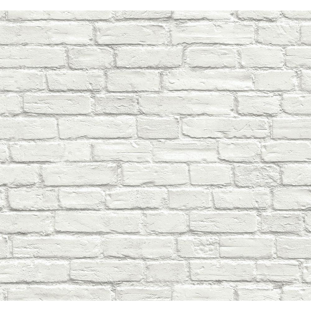 Nextwall Vintage White Brick Vinyl Peelable Wallpaper Covers 30 75 Sq Ft Ax10800 The Home Depot