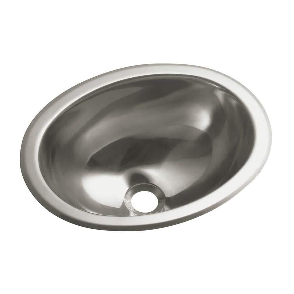 Sterling Drop In Oval Stainless Steal Bathroom Sink In Stainless Steel 11811 0 The Home Depot
