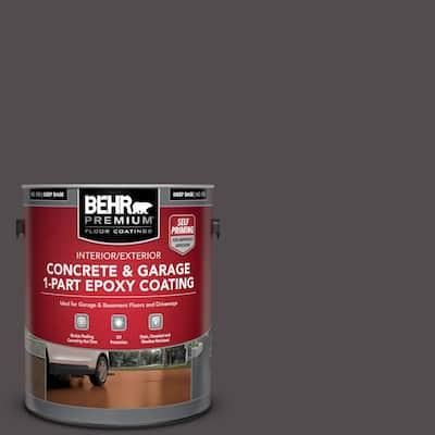 1 gal. #N570-7 Black Elegance Self-Priming 1-Part Epoxy Satin Interior/Exterior Concrete and Garage Floor Paint