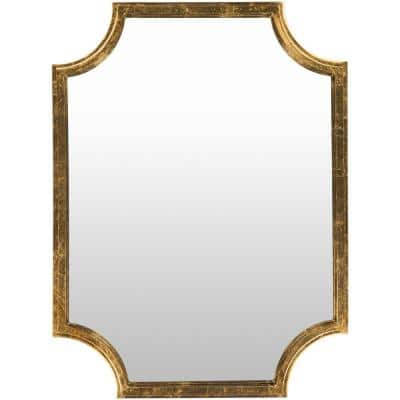 Medium Irregular Gold Modern Mirror (40 in. H x 29.75 in. W)