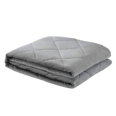 Deka 2-in-1 Warm and Cool Grey Weighted Blanket 12 lbs. 48 in. x 72 in.