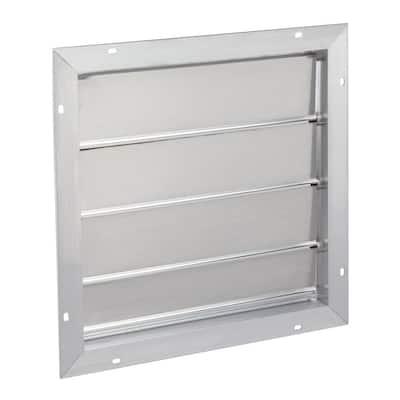 16.75 in. x 16.75 in. Square Aluminum Aluminum Automatic Shutter Gable Louver Vent
