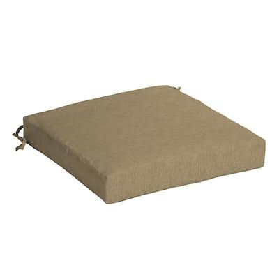 Tan Hamilton Texture Square Outdoor Seat Cushion