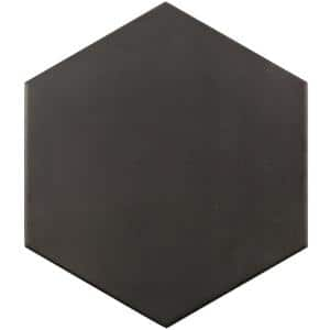 Langston Dark Gray 9.875 in. x 11.375 in. x 10mm Matte Porcelain Floor and Wall Tile (18 pieces / 10.76 sq. ft. / box)
