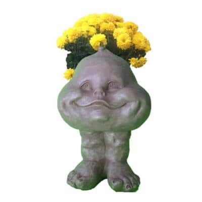 8 in. Stone Wash Baby Bro Muggly Planter Statue Holds 3 in. Pot