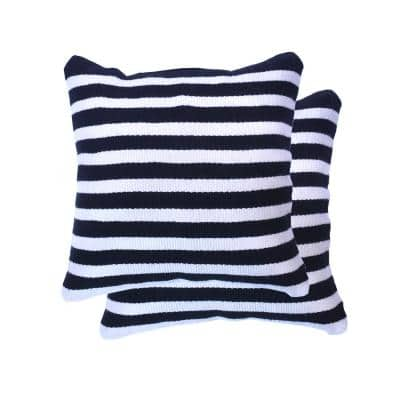 Multi Colored Stripe Outdoor Pillows Patio Furniture The Home Depot