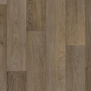 Greyed Oak Wood Residential Vinyl Sheet Flooring 12 ft. Wide x Cut to Length