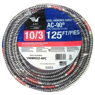 10/3 x 125 ft. BX/AC-90 Armored Electrical Cable