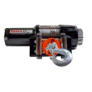 2,500 lbs. Capacity 12-Volt Electric Winch with 46 ft. Steel Cable Super Deluxe Package