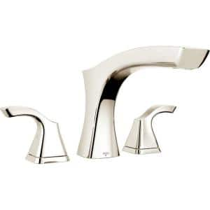 Tesla 2-Handle Deck-Mount Roman Tub Faucet Trim Kit in Polished Nickel (Valve Not Included)